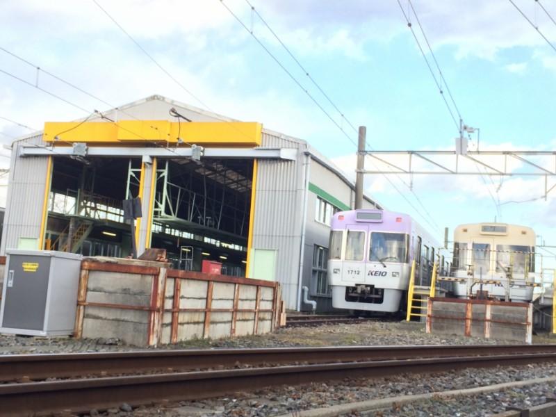 【15:00】「富士見ヶ丘検車区」で電車を眺める