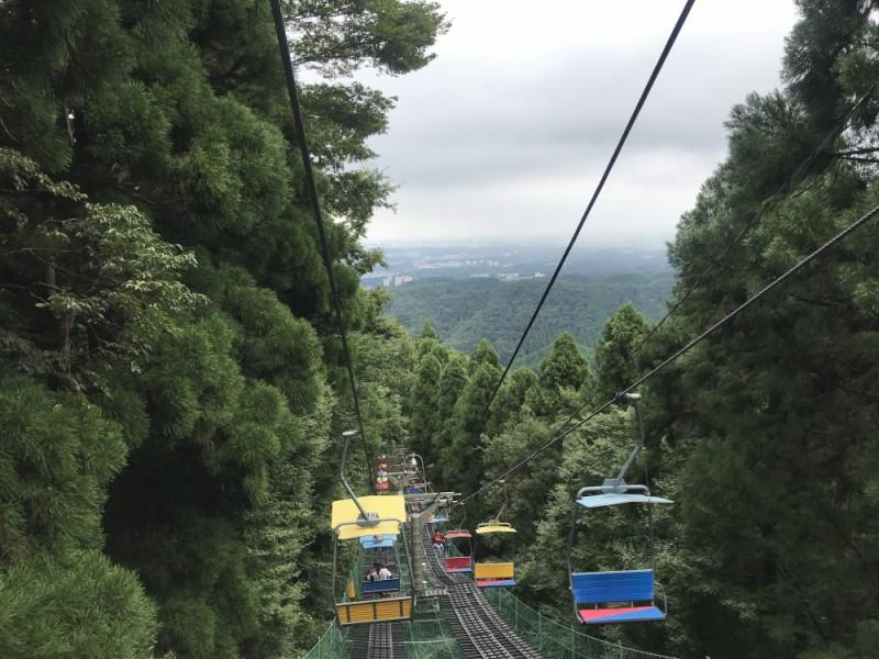 【12:45】「山上駅」からリフトに乗り「山麓駅」まで自然を満喫