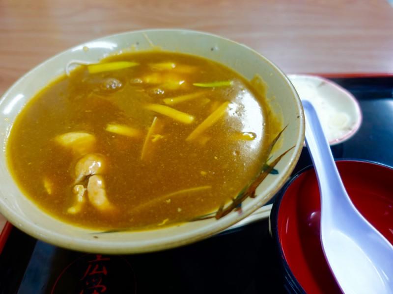 【17:00】「蕎⻨処廣榮屋」で和カレーを