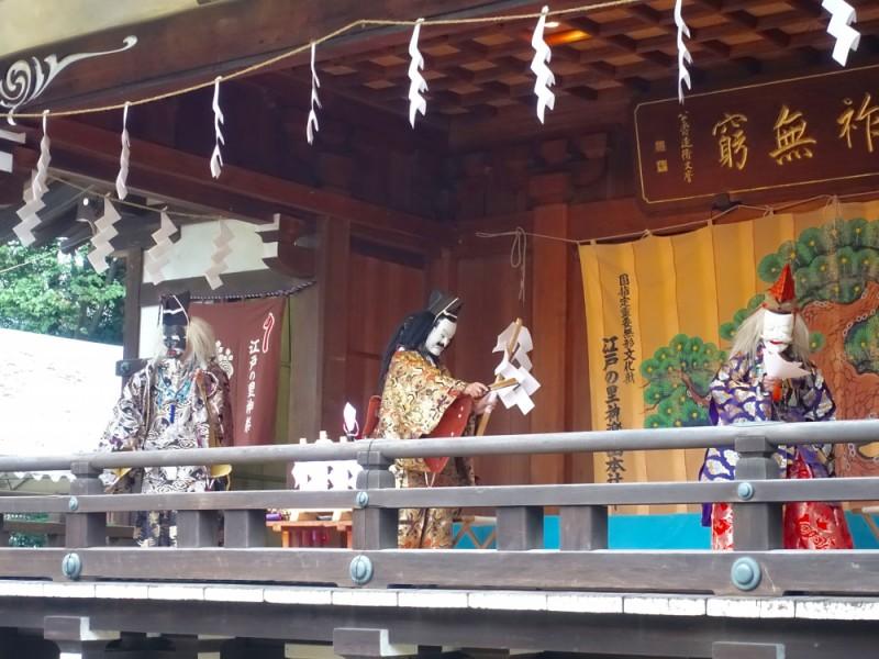 【15:00】大國魂神社「神楽殿」で奉納神楽を鑑賞