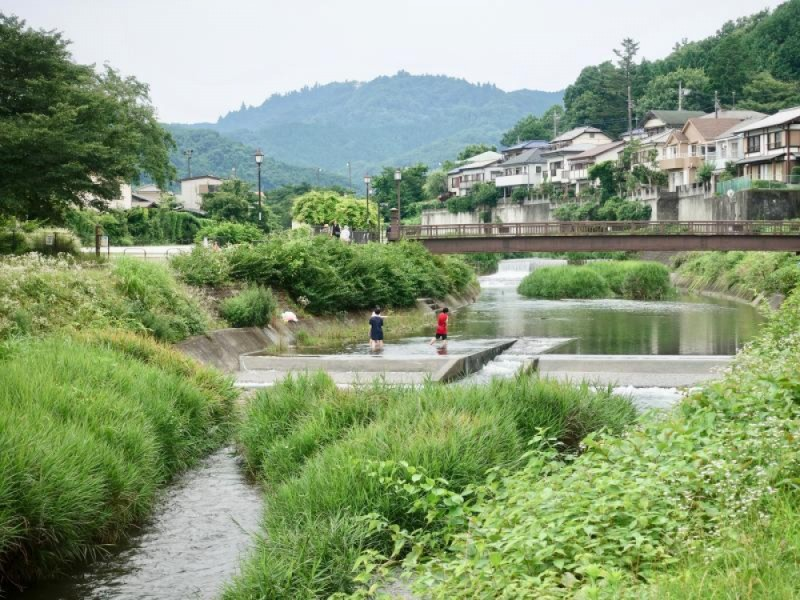 【15:00】南浅川沿いをお散歩しながら、高尾駅へ