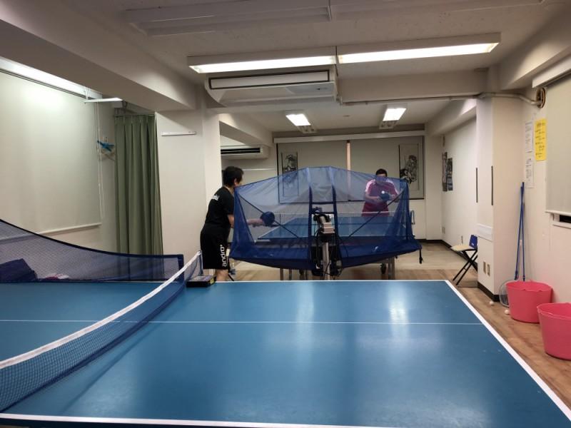 【15:00】「明大前ファインコート」で卓球タイム