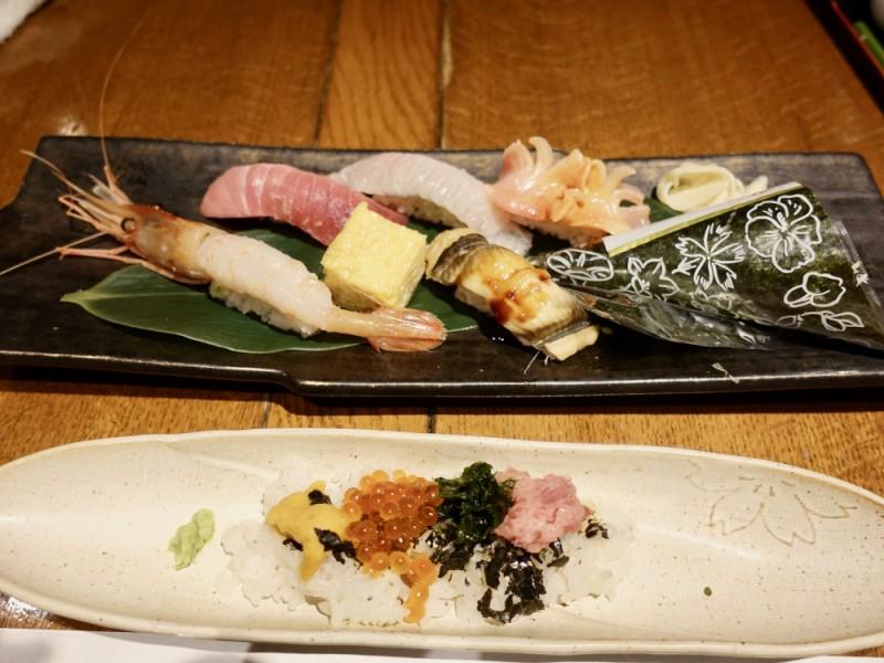 【11:40】「久我山 光悦」でデザート付きお寿司ランチをいただく