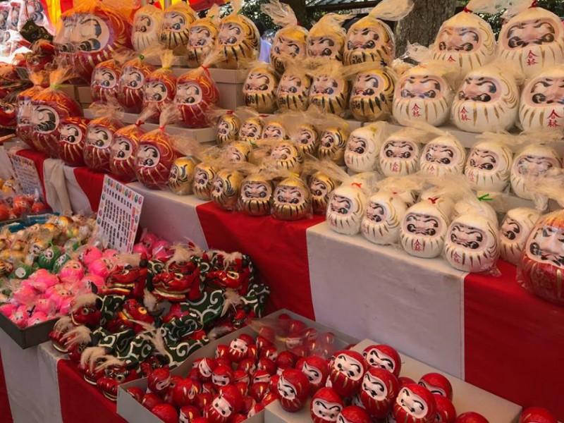 【14:20】「元三大師大祭 だるま市」でだるまを購入!