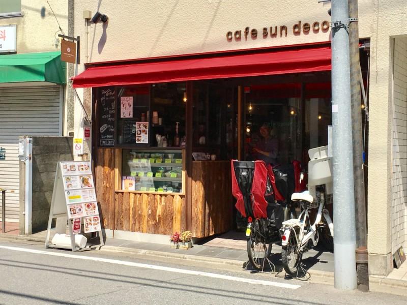 【11:30】子連れに優しい人気のカフェ「cafe sun deco(カフェサンデコ)」で早めのランチ