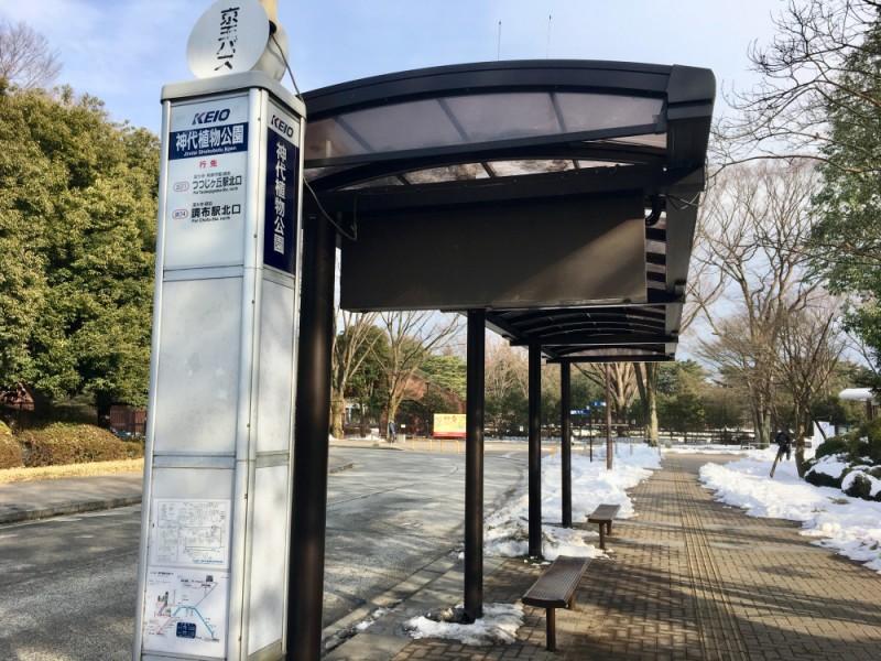 【14:50】京王バスで「神代植物公園」から「つつじヶ丘駅北口」へ移動