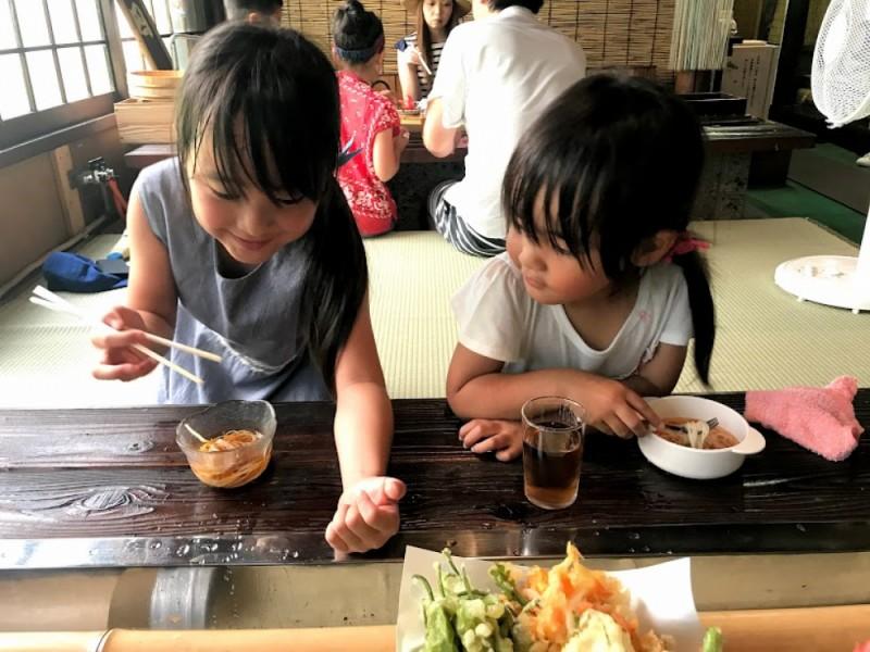 【11:00】「季節料理 鮒宿」で流しそうめん体験