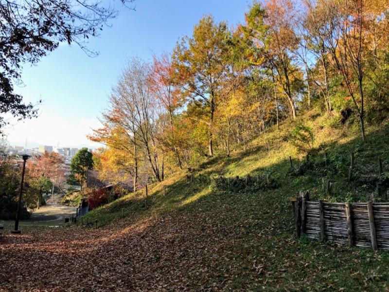 【13:30】「南平丘陵公園」のベンチでパンランチ