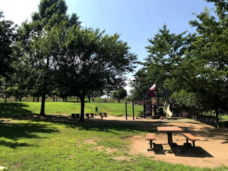 【14:00】若葉台公園の複合遊具やネット遊具で遊ぶ