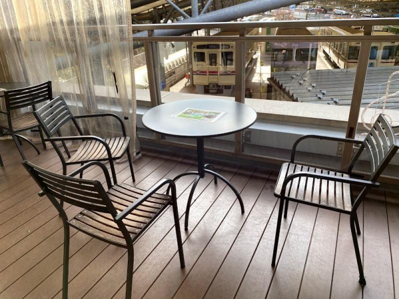 【15:30】「京王れーるランド」2階のテラスでカフェタイム