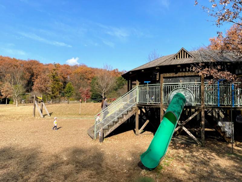 【14:00】高尾の森わくわくビレッジ「原っぱ」「ツリーハウス」などで外遊び
