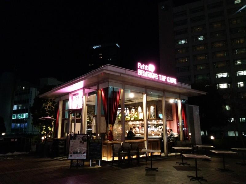 【19:30】ギネス認定ビアカフェ「Petit Delirium Tap Cafe(プティデリリウムタップカフェ)」で夜景を見ながらのロマンティックディナー