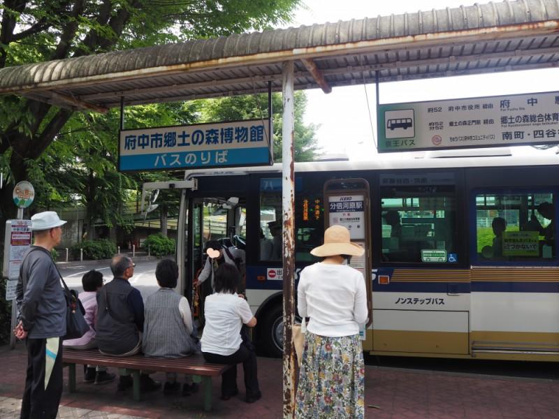 【12:49】「分倍河原駅」バス停から乗車。「郷土の森正門前」下車