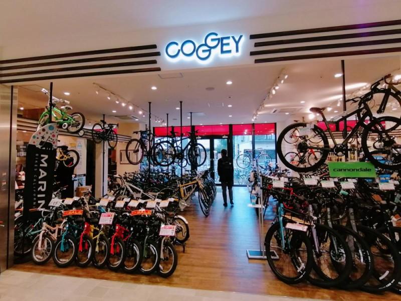 【11:40】トリエ京王調布C館のサイクルショップ「COGGEY」で自転車をチェック