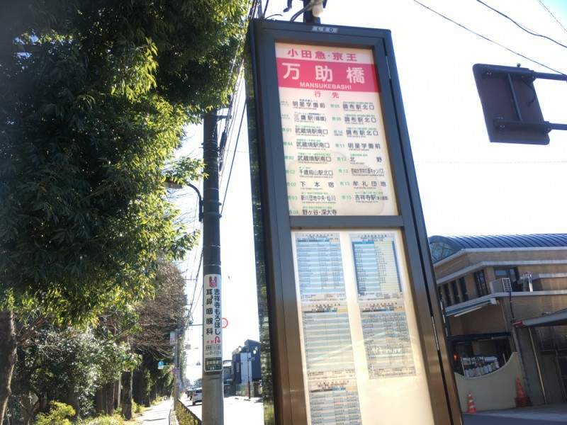 【13:20】「万助橋」バス停からバス移動