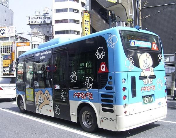 運賃は100円均一『ハチ公バス 神...